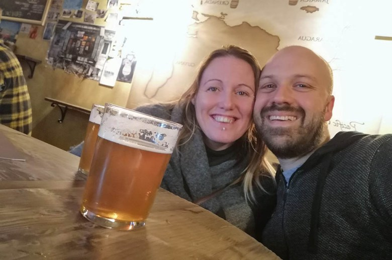Celebrating our wedding anniversary in Vilnius and staying positive about our progress with the blog