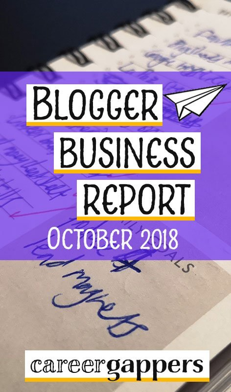 Each month we report on our progress and income as we attempt to build a thriving travel blogging business. This is our business report for October 2018. Blogging | income report | career ideas