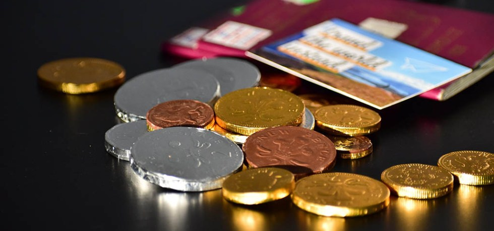 Chocolate Christmas coins