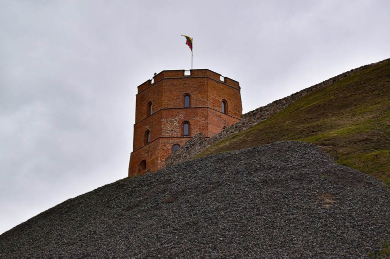 Gediminas' Tower on Castle Hill is one of the most historic sites in Vilnius