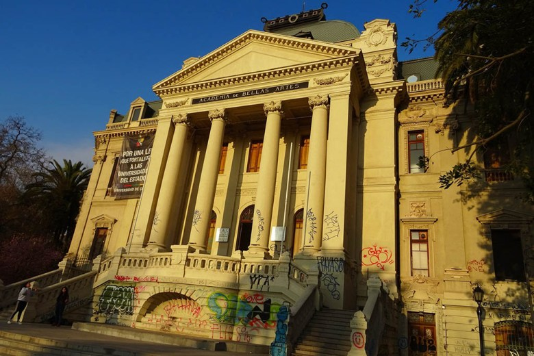 The National Museum of Fine Arts is one of the most striking buildings in Santiago