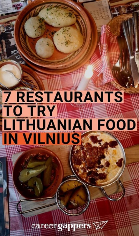 We took a culinary tour of Lithuania's capital city to find the best Vilnius restaurants to sample authentic Lithuanian food. This is what we found. Food and drink | career gappers blog | Lithuanian cuisine | best restaurants in Vilnius