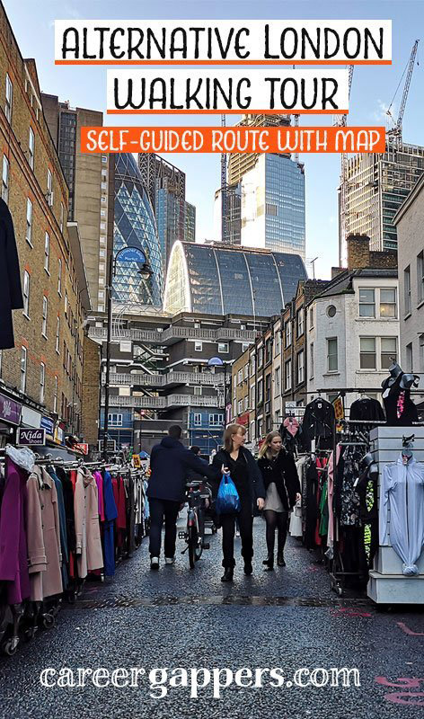 This alternative London walking tour includes the highlights of the East End interspersed with some hidden gems, based on our extensive local knowledge. We've included a map so you can take the tour self-guided. #traveldestinations #eastlondon #londonwalkingtour #walkingtours