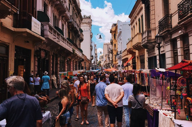 Visiting the San Telmo Sunday Market is one of the coolest things to do in Buenos Aires