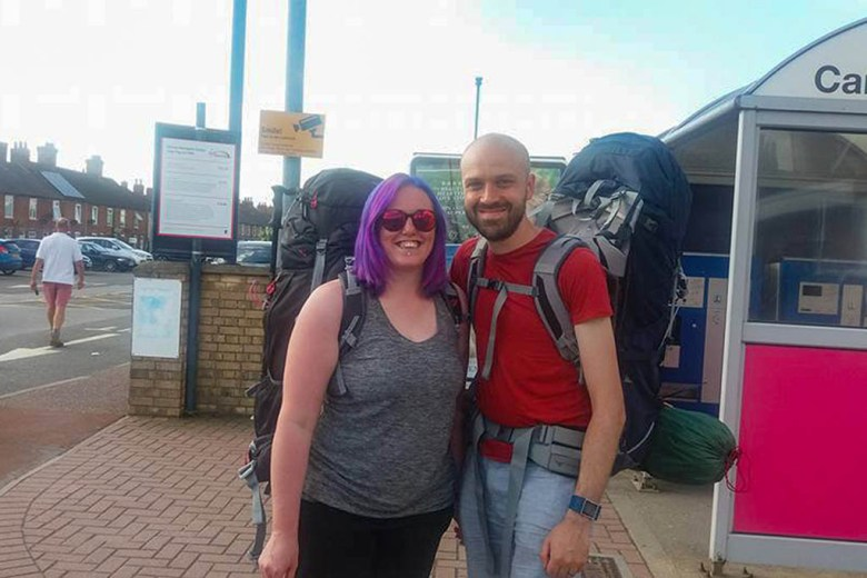 Long-term travel checklist complete: our last photo in the UK before our career break adventure