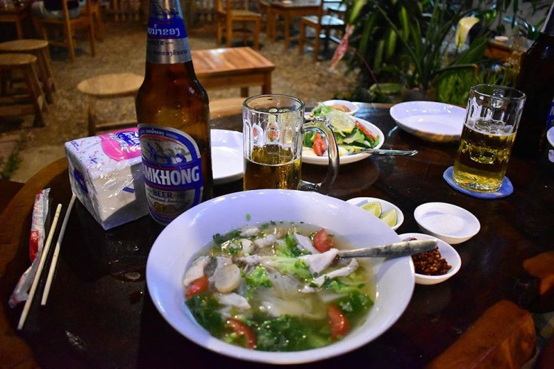 Excellent traditional local food in Lao Friend Bar, Luang Prabang