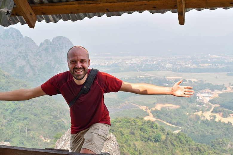 The two viewpoints on the Pha Ngeun trail offer beautiful views of the area around Vang Vieng