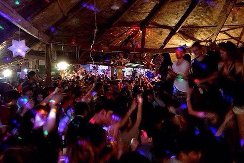 Sakura is the most popular backpacker bar in Vang Vieng, Laos