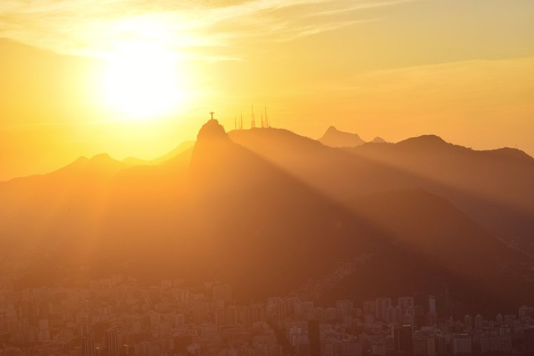 The view of the sun going down behind Christ the Redeemer was one of the highlights of our Rio trip