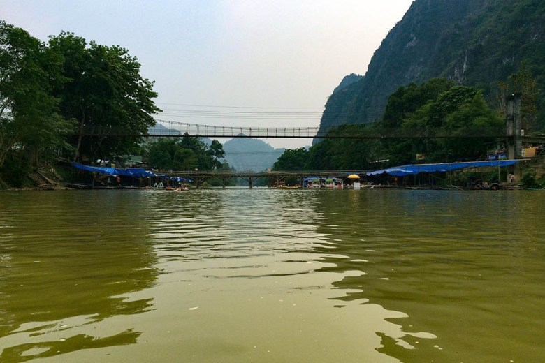 River tubing is one of the classic things to do in Vang Vieng