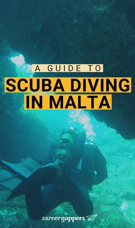 Looking for the best places to scuba dive in Europe? Here's all you need to know about diving in Malta, for azure waters, marine life and wartime wrecks. #diving #scubadiving #maltadiving #europe #europediving