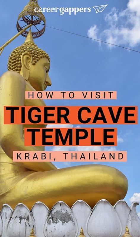 Tiger Cave Temple, Krabi, is one of Thailand's most scenic sacred sites, at the top of a 1,237-step tower. Plan your visit with our complete guide. #krabi #thailand #temples #tigercavetemples #krabithailand