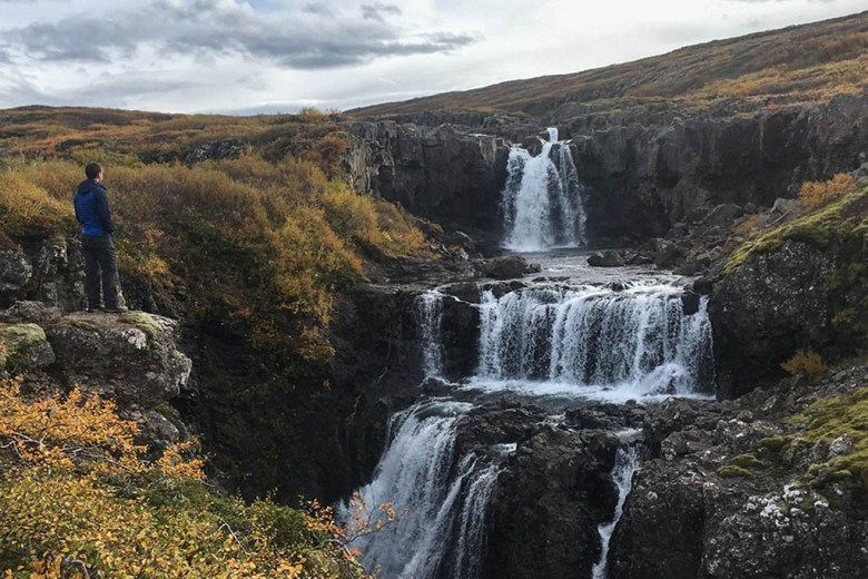 Alisa shared her career break experience with her husband, pictured here in Iceland