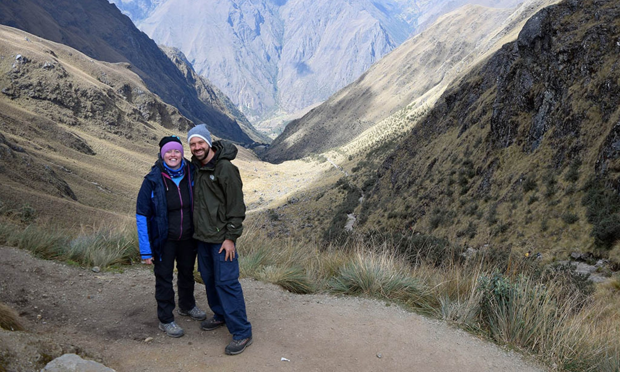 Alex and Lisa at Dead Womans Pass Inca Trail