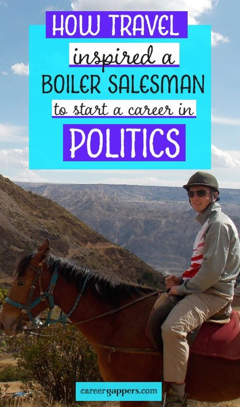 Alan left his job in boiler sales to travel the world on a career break. After returning home, his experiences inspired him to start a new career in politics. He tells his story in this interview. #sabbatical #careerbreak #careertips #careeradvice #careerbreakinspiration