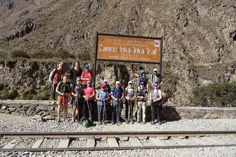 Our team of Inca Warriors at the beginning of the trail