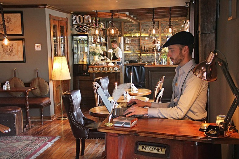 Vinnhaus Hostel is set inside a historic house in Puerto Natales with a rustic, vintage feel