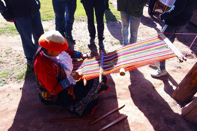 On the first full day we visited a women's weaving cooperative in the Sacred Valley