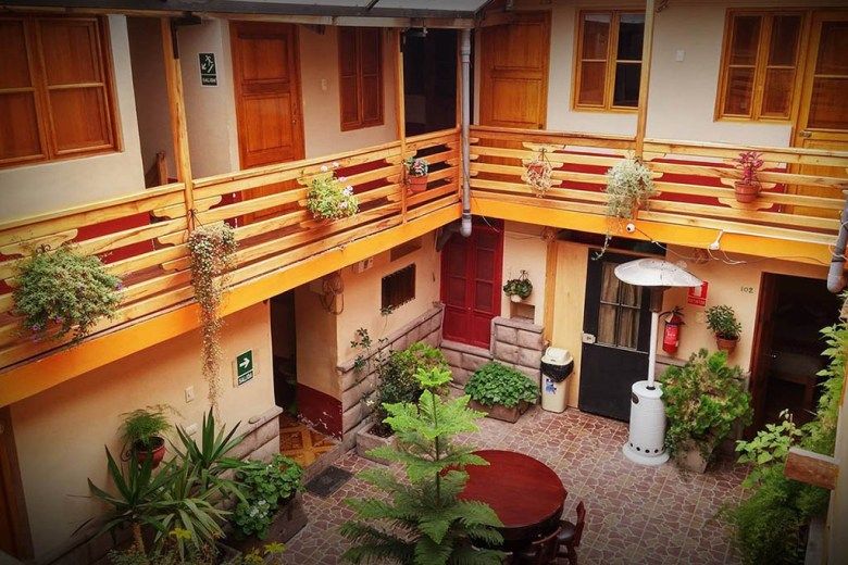 La Posada Del Viajero is one of the best hostels in Cusco for cleanliness, space and service
