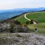 Lisa on Monte Subasio during our April road trip through Italy