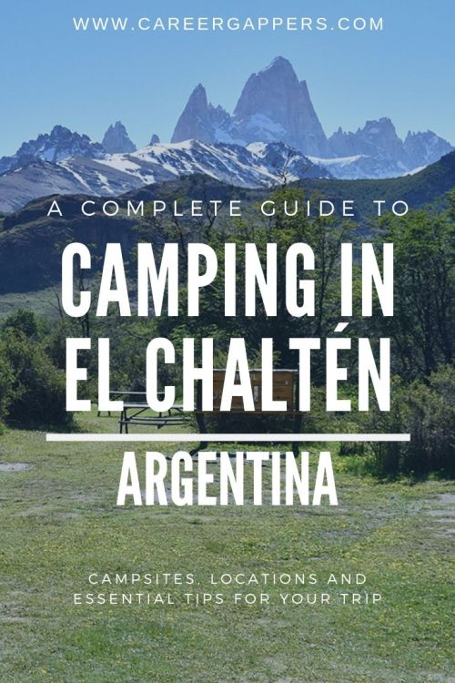 A complete guide to camping in El Chaltén, featuring all the campsites in town and on the nearby hiking trails, plus essential tips before you go. #elchalten #mountfitzroy #elchaltenhiking #campingpatagonia #patagonia