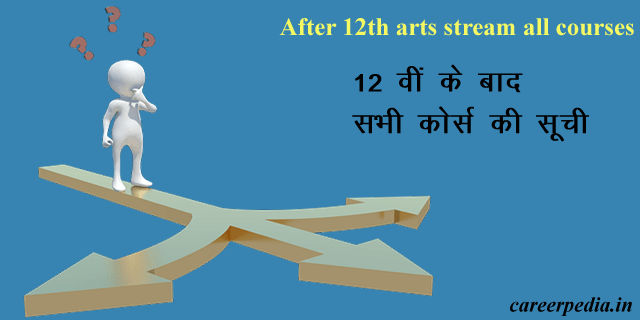 after 12th arts stream all courses in hindi