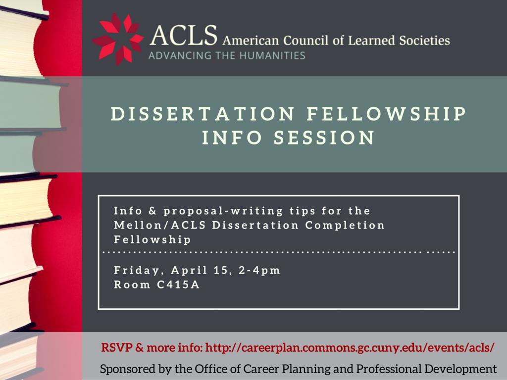 acls mellon dissertation grant