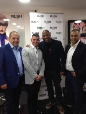 John Barnes at Rush Liverpool launch party