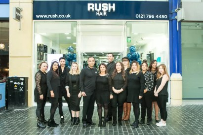 The Rush Birmingham team outside the salon