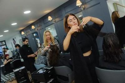 hairdressers cutting hair in Rush Dorking Hair salon