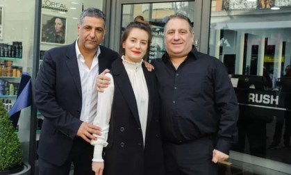 Franchisee Gentiana with Rush Co-Founder Stell Andrew (left) and Operations Director George Phouli (right)