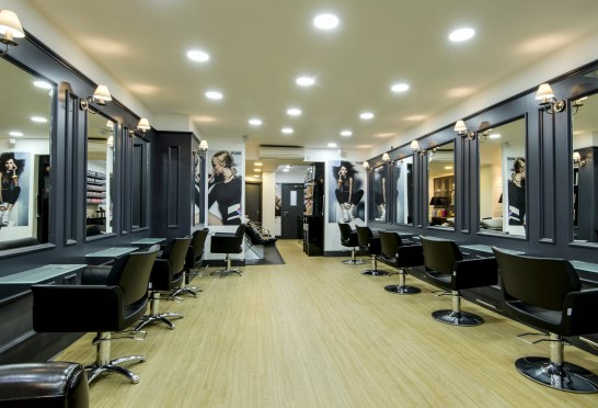 Interior of salon