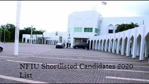 nfiu shortlisted candidates
