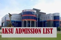 aksu admission list