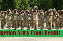 Nigerian Army Exam Results