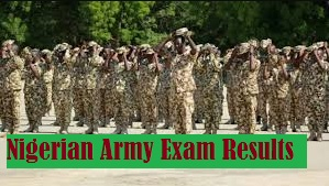 Nigerian Army Exam Results