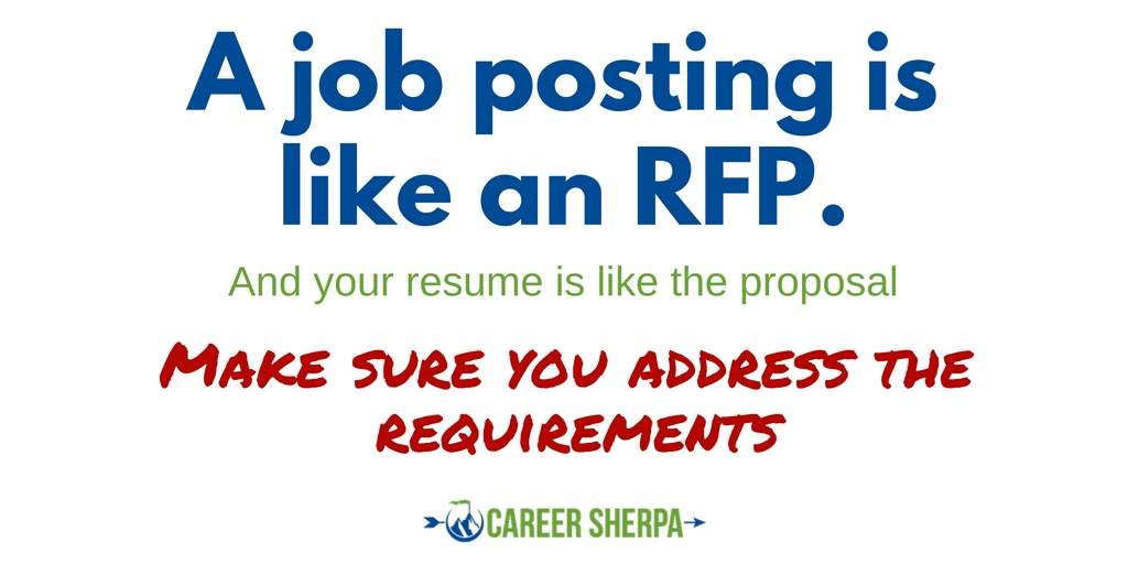 Your Resume Will Be The Proposal. Your Resume Should ONLY Address The  Critically Important Requirements Of The Job, Using As Much Of The Job  Postingu0027s ...  Updating Your Resume