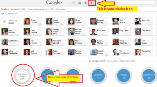 creating googlePlus circles