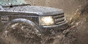 car mud stuck