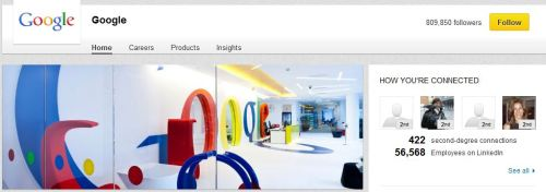 google LI page