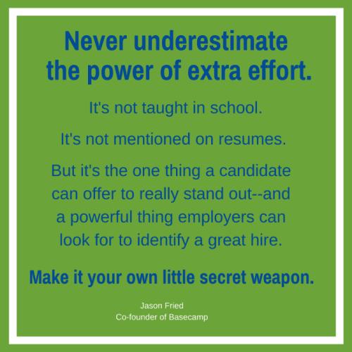 The power of effort