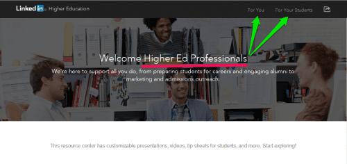 linkedin university page