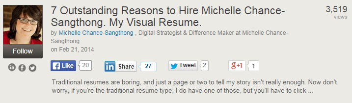 This Could Be Because SlideShare Chose The Presentation Resume As Featured A Possibility For Any Shared Here On Facebook 20 Times