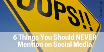 6 things you should never mention on social media
