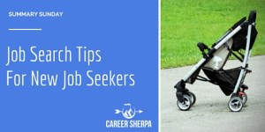 Summary Sunday: Job Search Tips For New Job Seekers