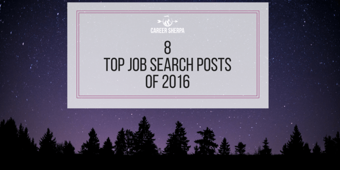 8 Top Job Search Posts of 2016