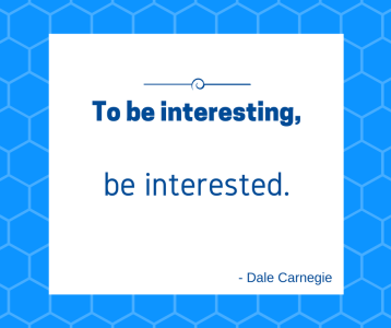 to be interesting be interested