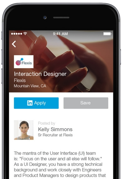 LinkedIn job search app