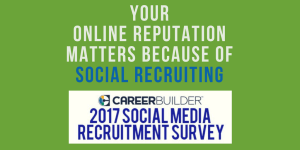Online Reputation Matters Because of Social Recruiting