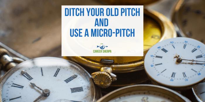 Use A Micro-Pitch